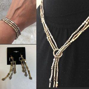 Jewelry - Necklace, Bracelet, Earrings In Rose, Gold, Silver